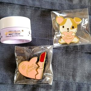 Brand New Too Faced Pillow Cream and Pins